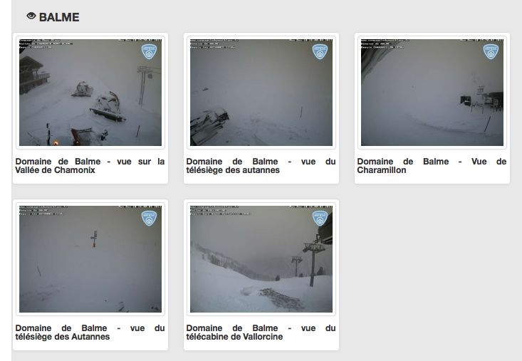 Webcam Vallorcine