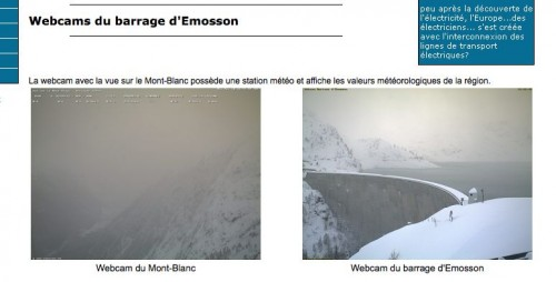 webcam vallorcine depuis emosson